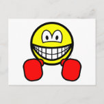 Boxing smile   postcards