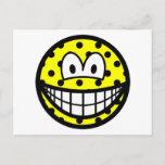 Polka dotted smile   postcards