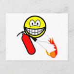 Fire extinguising smile   postcards