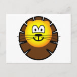 Leo emoticon Zodiac sign  postcards