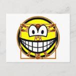 Vitruvian Man smile Da vinci  postcards