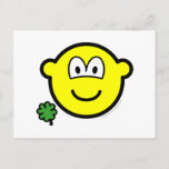 Good luck clover buddy icon Holding  postcards