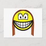 Brunette smile   postcards