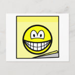 Post-it note smile   postcards
