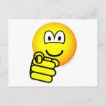 Pointing emoticon   postcards