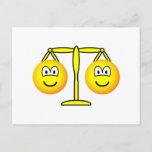 Libra emoticon Zodiac sign  postcards