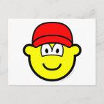 Baseball cap buddy icon   postcards