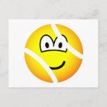 Tennisball emoticon   postcards