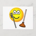 Plumber emoticon   postcards
