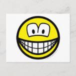 Telly/computer overdose smile   postcards
