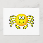 Cancer emoticon Zodiac sign  postcards