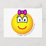 Baby girl emoticon   postcards