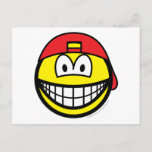 Backward cap smile   postcards