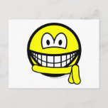 Yellow belt smile   postcards