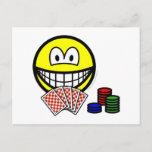 Poker smile   postcards