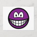 Colored smile violet  postcards
