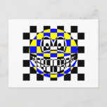 Chess board smile   postcards