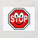 Stop sign emoticon   postcards