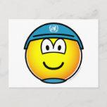 UN soldier emoticon   postcards