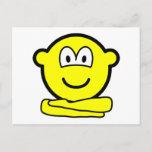 Yoga buddy icon   postcards