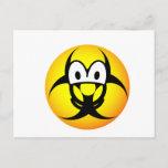 Biohazard emoticon version II  postcards