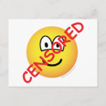 Censored emoticon   postcards