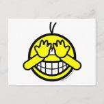 Peek-a-boo smile   postcards
