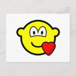 Love heart buddy icon   postcards