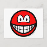 Colored smile red  postcards