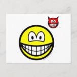 Devil on shoulder smile   postcards
