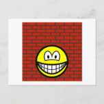 Against the wall smile   postcards