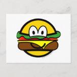 Hamburger emoticon   postcards