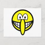 Big nosed smile   postcards