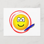 Circled emoticon Marked  postcards