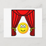 Theater emoticon stage curtains open  postcards