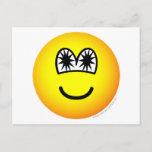 Star eyed emoticon   postcards