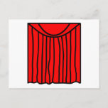Theater emoticon stage curtains closed  postcards