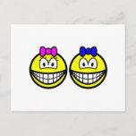 Twins smile   postcards