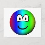 Rainbow emoticon Colours  postcards