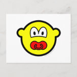 Dummy buddy icon Baby pacifier  postcards