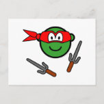 Red Ninja Turtle buddy icon   postcards