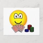 Poker emoticon   postcards