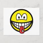 Tongue stud smile   postcards