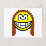 Curly hair smile   postcards