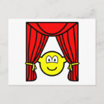 Theater buddy icon stage curtains open  postcards