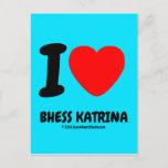 i [Love heart]  bhess katrina i [Love heart]  bhess katrina Postcards