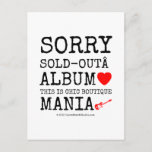 sorry sold-out album [Love heart]  this is chic boutique mania [Electric guitar]   sorry sold-out album [Love heart]  this is chic boutique mania [Electric guitar]   Postcards