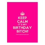 [Crown] keep calm it's my birthday bitch!  Postcards