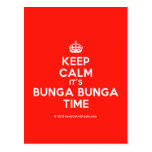 [Crown] keep calm it's bunga bunga time  Postcards