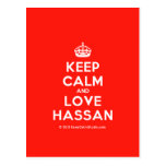 [Crown] keep calm and love hassan  Postcards